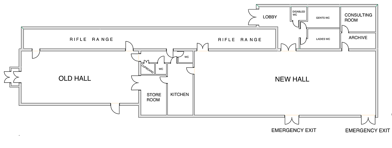 Floor plan for Biddenden Village Halls