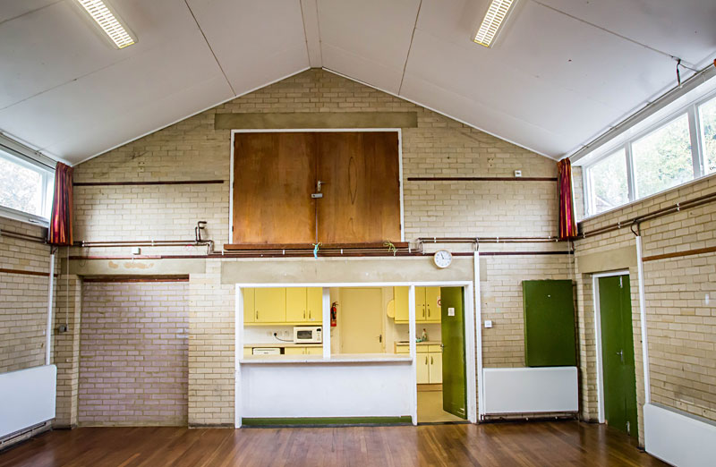 Kitchen hatch at Biddenden Village Halls