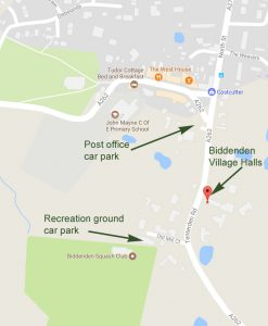Location map for Biddenden Village Halls